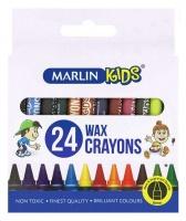 Marlin Kids 24 8mm Wax Crayons Photo