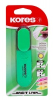 Kores Bright Liner Chisel Tip Highlighter - Green Photo