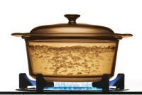 Visions - 3.5 Litre Covered Stockpot - Amber Photo