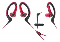 Audio Technica SonicSport In-Ear Headphones - Red Photo