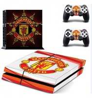 SKIN-NIT Decal Skin for PS4: Manchester United - Red & White Photo