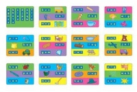 Gigo Learning Board Magnetic Cards - Assortment Photo