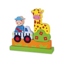Viga Wooden Magnetic 3D Puzzle - Zoo Photo