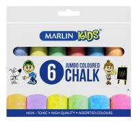 Marlin Kids Colour Jumbo Chalk - 6 Pieces Photo