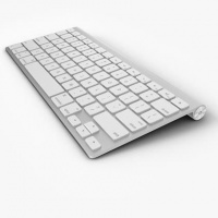 Tech Collective Slim Wireless Apple Replica Keyboard - White Photo