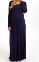 Absolute Maternity Long Sleeved Maxi Dress - Navy Photo