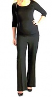 Absolute Maternity Basic Overbelly Workpants - Black Photo