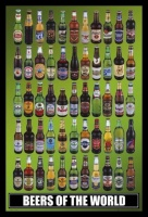 Beer - Around the World with Black Frame Photo