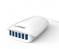 Ldnio 6 Port USB Charger 5V 5.4A EU Passed FCC CE Universal Multipurpose Plug Charge- White Photo