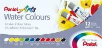 Pentel 12 Water Colour Tubes Set Photo