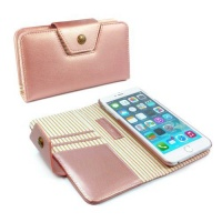Apple Tuff-Luv Alston Craig Ladies Magnetic Case for the the iPhone 6/6S Plus - Rose Gold Stripe Photo