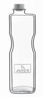 Luigi Bormioli - 1 Litre Optima Glass Juice Bottle Photo