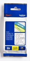 Brother TZ-135 12mm x 8m White on Clear Laminated Tape Photo