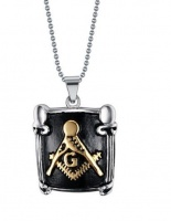 34.5 grams Stainless Steel Free Mason Pendant with Ball Style Necklace Photo