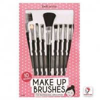 10 Piece Make Up Brush Set - Black Photo