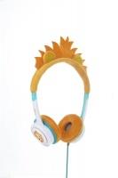 Zagg Little Rockerz Costume Headphones - Orange Lion Photo