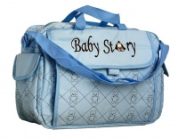 Fino Waterproof Built in Changing Station Nappy Bag Blue Photo