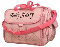 Fino Waterproof Built in Changing Station Nappy Bag Pink Photo