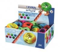 Lyra Groove One-Hole Plastic Sharpeners - Display Box of 24 Photo