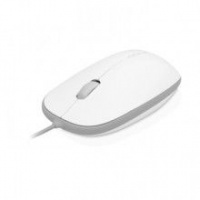 Macally  USB Optical Mouse for Mac/PC Wired - White Photo