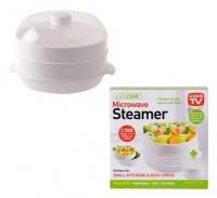 Bulk Pack 5x Microwave Steamer 2-Tier 21cm Photo