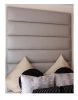 6 Row Silver Kingsize Headboard Photo