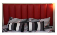 8 Row Red Kingsize Headboard Photo