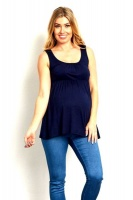 Absolute Maternity Styled Tank Top - Navy Photo