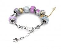 Destiny MyLady Charm Bracelet with Swarovski Crystals - Pink Photo