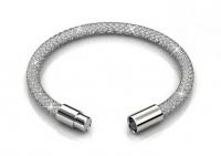 Destiny Silver Mesh Bracelet with Swarovski Crystals Photo