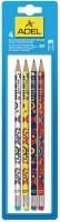 Adel HB Blacklead Pencils with Eraser Tip - Circle Design Photo