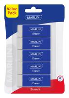 Marlin Vinyl Erasers - Blister of 5 Photo
