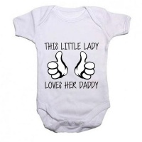 Noveltees ZA Girls This Little Lady Loves Her Daddy Baby Grow Photo