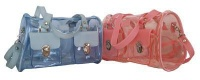 Fino Clear Jelly Toiletry Bag Value Pack 23840 - Blue & Pink Photo