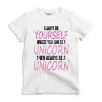 Noveltees ZA Girls Always Be Yourself Unless You Can Be A Unicorn Baby Grow Photo