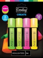 Croxley Create Highlighters - Wallet of 4 Photo