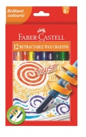 Faber-Castell 12 Retractable Twist Wax Crayons Photo