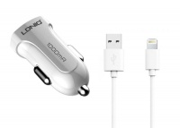 Apple LDNIO 1000mAh USB Car Charger with Lightning Cable for Photo
