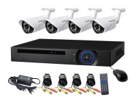 Real AHD CCTV Direct - 4 Channel cctv camera system - Full Kit Perfect security cameras Photo