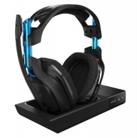 ASTRO A50 Wireless Headset Base Station For PS4 - Black/Blue Photo