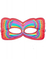 Dreamy Dress Ups Mask - Red Rainbow Butterfly Photo
