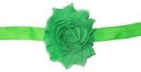 Baby Headbands Girl's Fine Flower Headband Solid - Green Photo