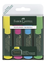 Faber-Castell Textliner 1548 Highlighters - Wallet of 4 Photo