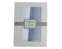 Babes and Kids 100% Cotton Muslin/Swaddle Blanket Gift Set - Pink Photo