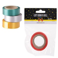 Bulk Pack 10 X Pearlized Gift Wrap Ribbon 1.8x910cm Assorted Colours Photo