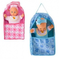 Bulk Pack 2 X Baby Doll 28cm Doll & Carry Cot Photo