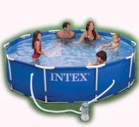 Intex Tubular Metal Framed Pool 3.05m x 76cm With Pump Photo