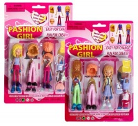 Bulk Pack 5 X Fashion Girl Doll and Accessories Assorted With Interchangeable Hair Etc. Photo