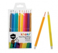 Bulk Pack 4x Propelling Pencil Crayons Pack of 10 Assorted Thin Crayons Photo