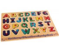 Bulk Pack 4x Alphabet Board A - Z Wooden Push-in Board Photo